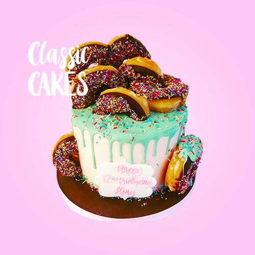 doughnut-drip-cake